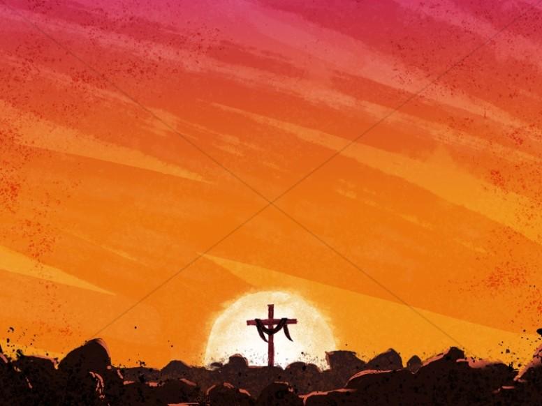 Easter Cross Sunrise Worship Background