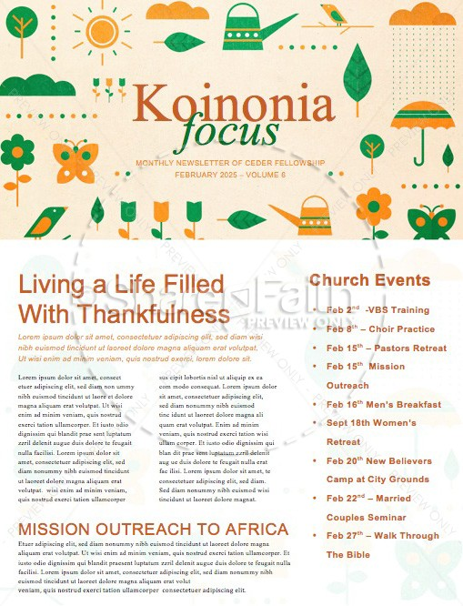 Spring Forward Church Newsletter