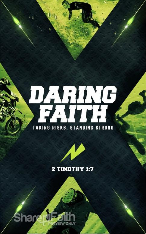 Daring Faith Christian Bulletin Sermon Bulletin Covers