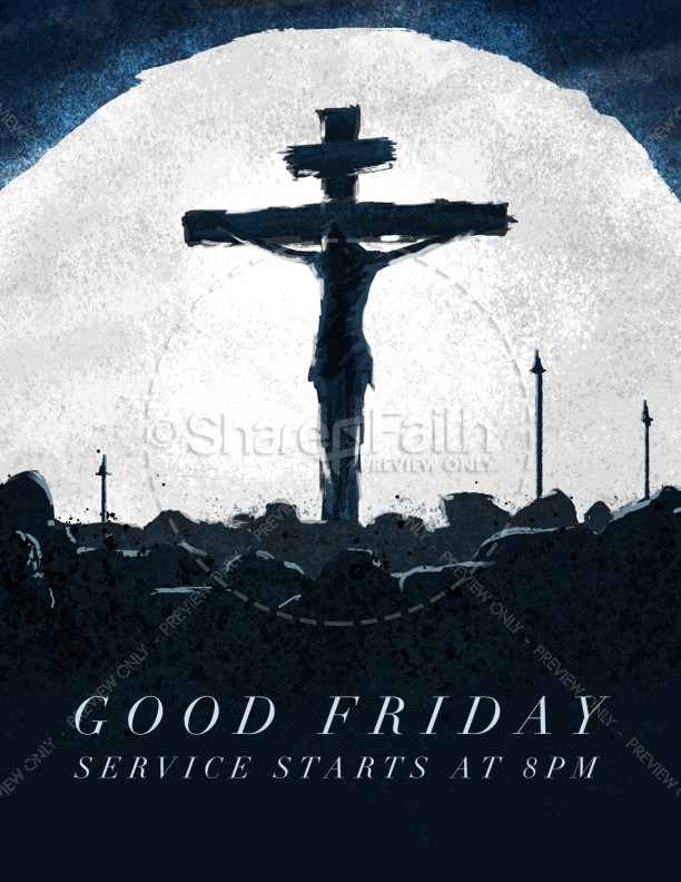 Good Friday Crucifixion Church Flyer
