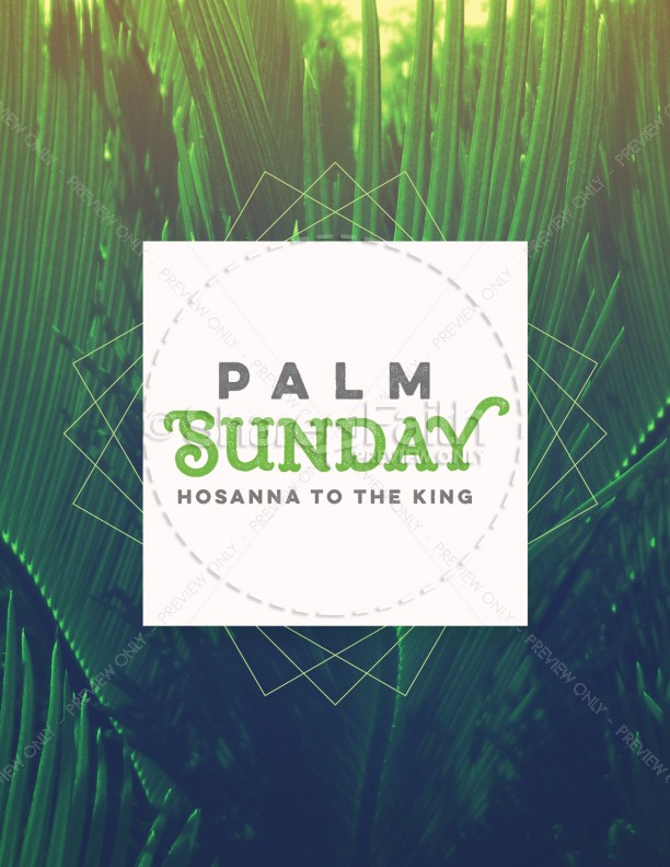 Palm Sunday Hosanna to the King Church Flyer