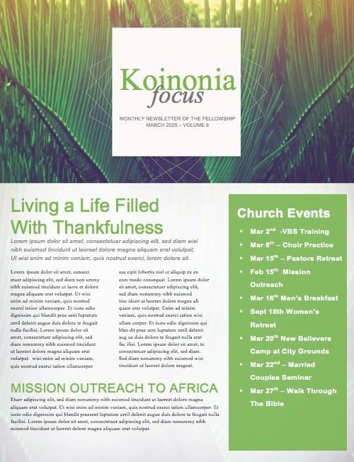 Palm Sunday Hosanna to the King Church Newsletter