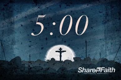 Good Friday Crucifixion Countdown Timer Video