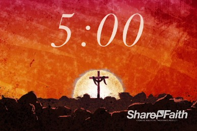 Easter Sunday Resurrection Church Countdown Timer