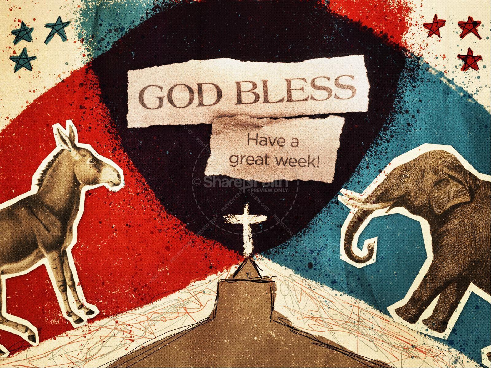 God, Politics, and the Church Sermon Powerpoint