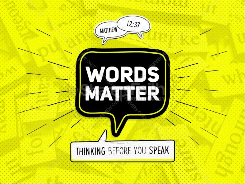 Words Matter Christian Church PowerPoint