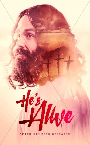 He's Alive Easter Church Bulletin