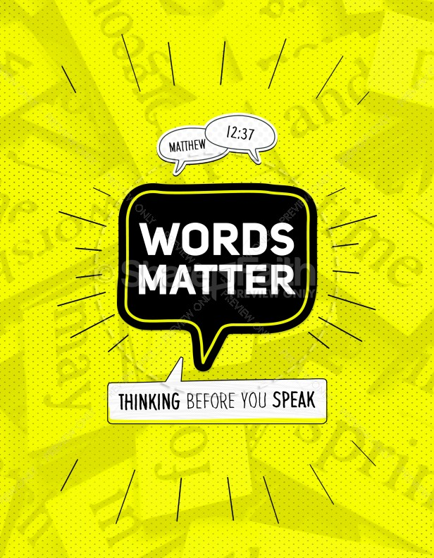 Words Matter Christian Church Flyer