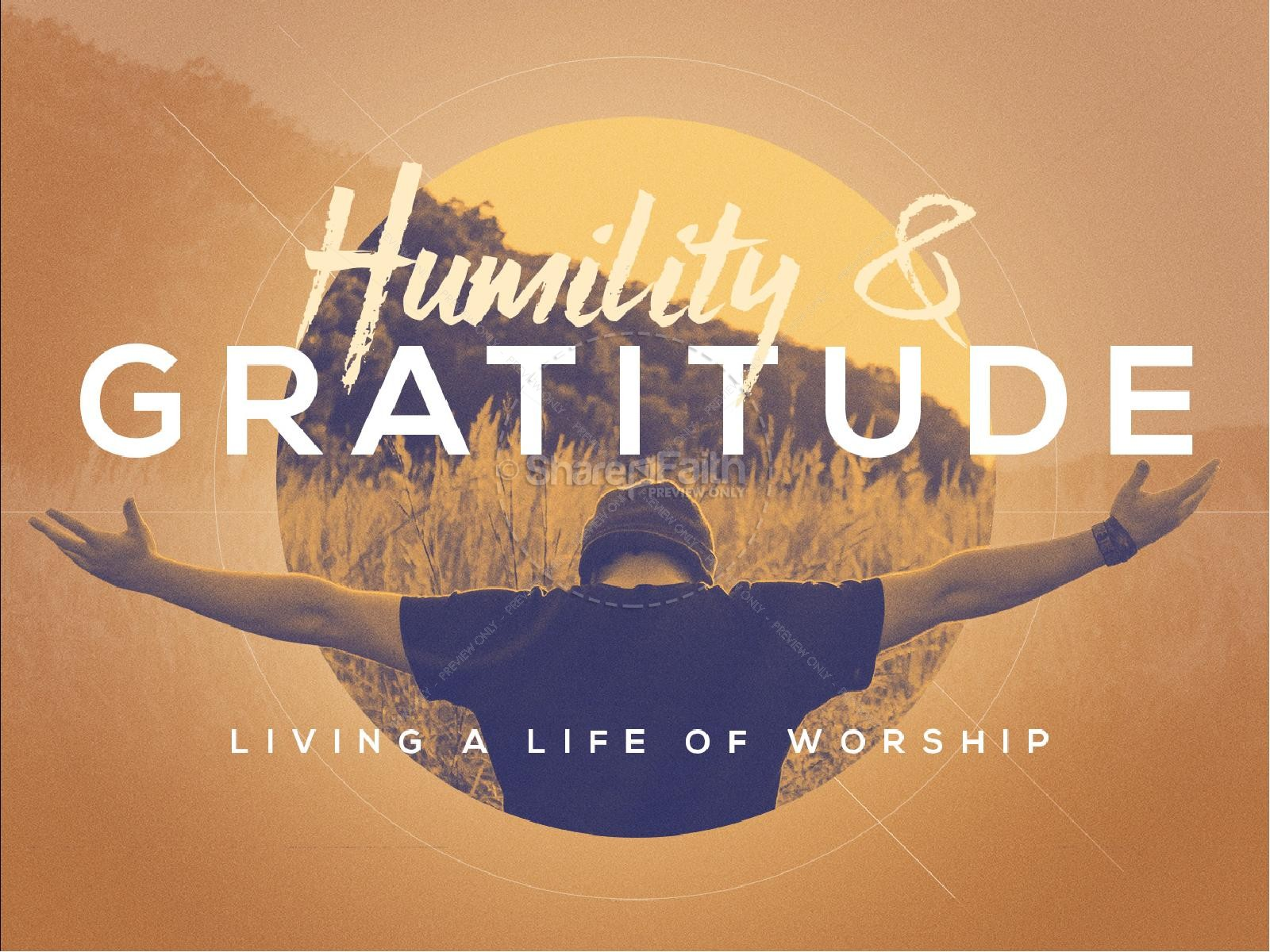 Humility and Gratitude Church PowerPoint
