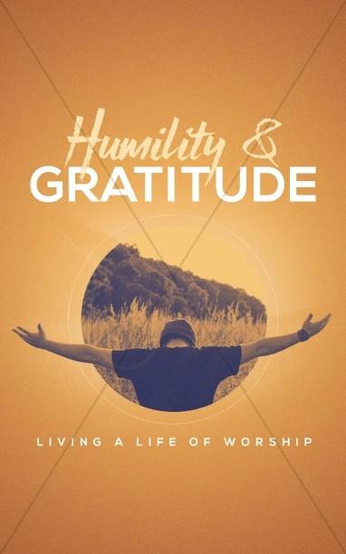 Humility and Gratitude Church Bulletin