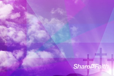 Clouds and Crosses Worship Video Background
