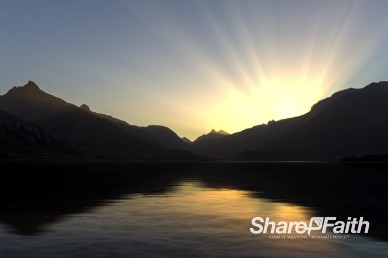 Sunrise on the Lake Worship Motion Background