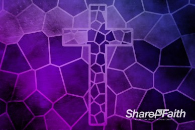 Mosaic Cross Stained Glass Worship Video Loop