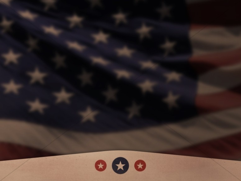 American Flag Old Glory Church Background