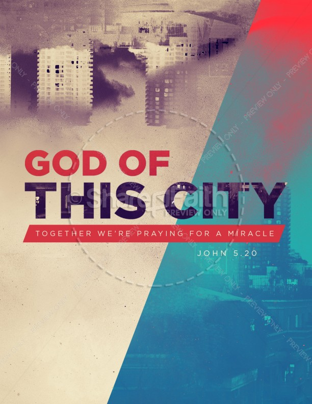 God of this City Church Flyer Template