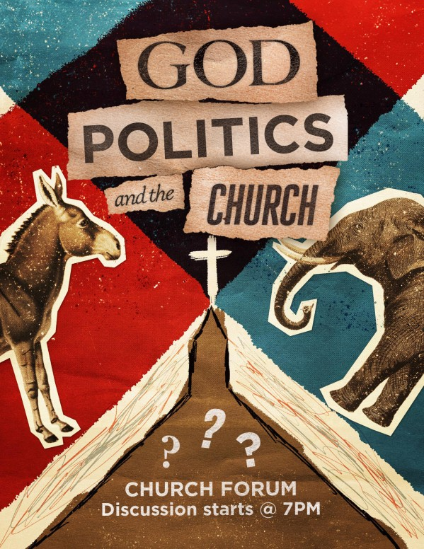 God, Politics, and the Church Flyer Template