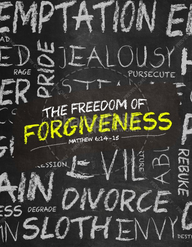 Freedom of Forgiveness Church Flyer