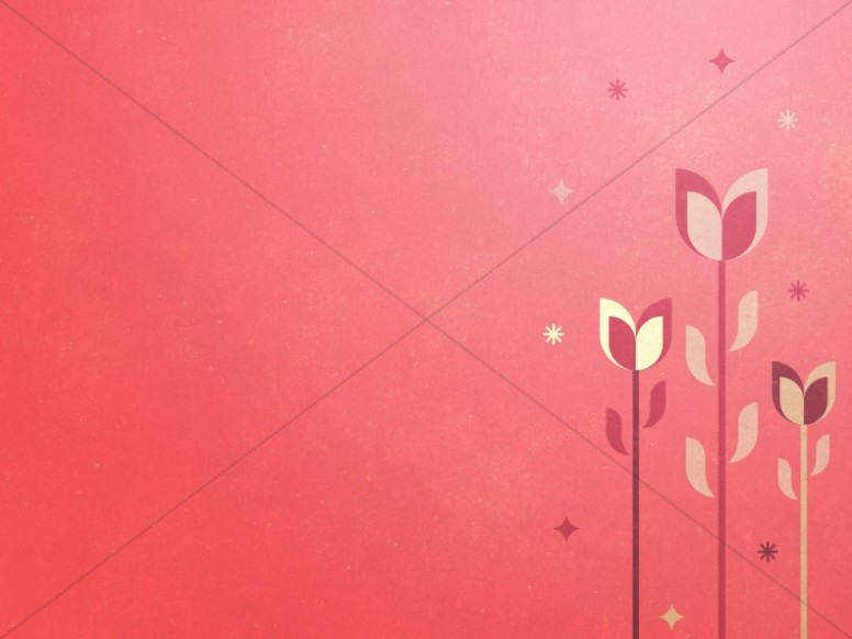 Mother's Day Pink Tulips Worship Background