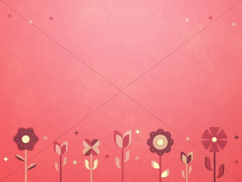 Mother's Day Pink Floral Church Worship Background