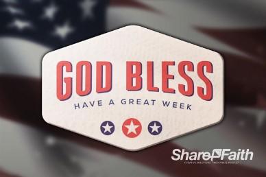 American Flag Church Goodbye Video Loop
