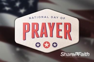 American Flag National Day of Prayer Video Loop
