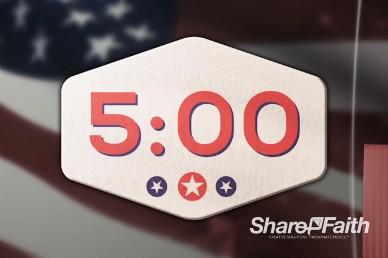 American Flag Church Countdown Timer Video
