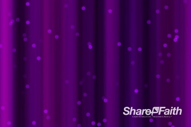 Purple Shimmering Lights and Particles Worship Video Background