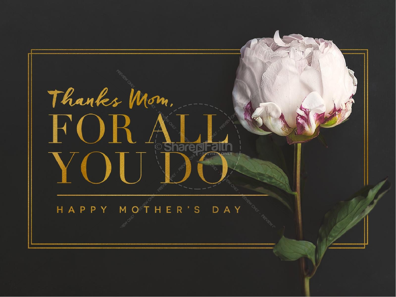 Thanks Mom, For All You Do Mother's Day Church PowerPoint   slide 1