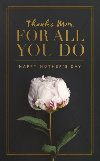 Thanks Mom, For All You Do Mother's Day Church Bulletin