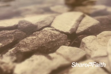 River Rock Worship Motion Background