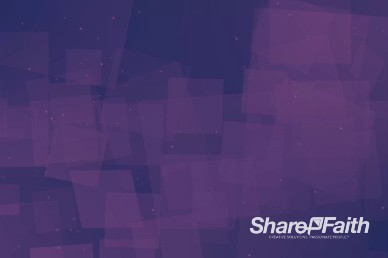 Floating Purple Squares Worship Video Background