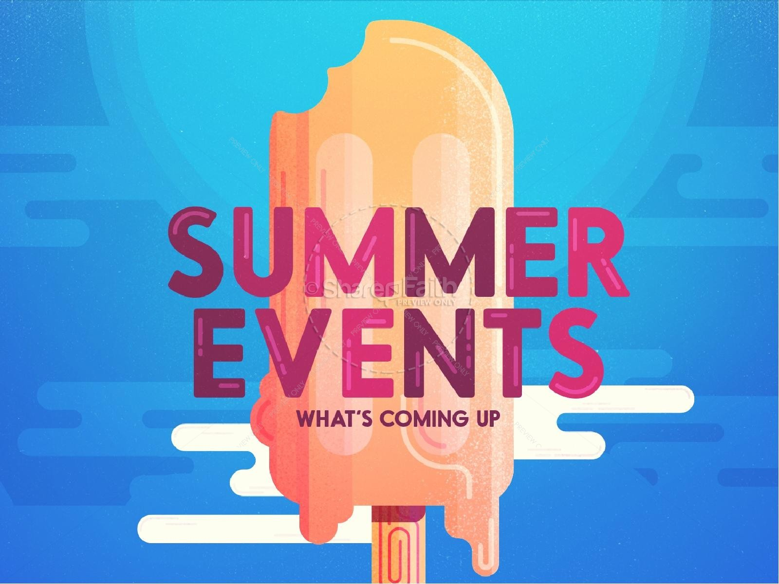Church Summer Events PowerPoint
