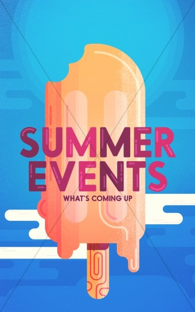 church summer events bulletin