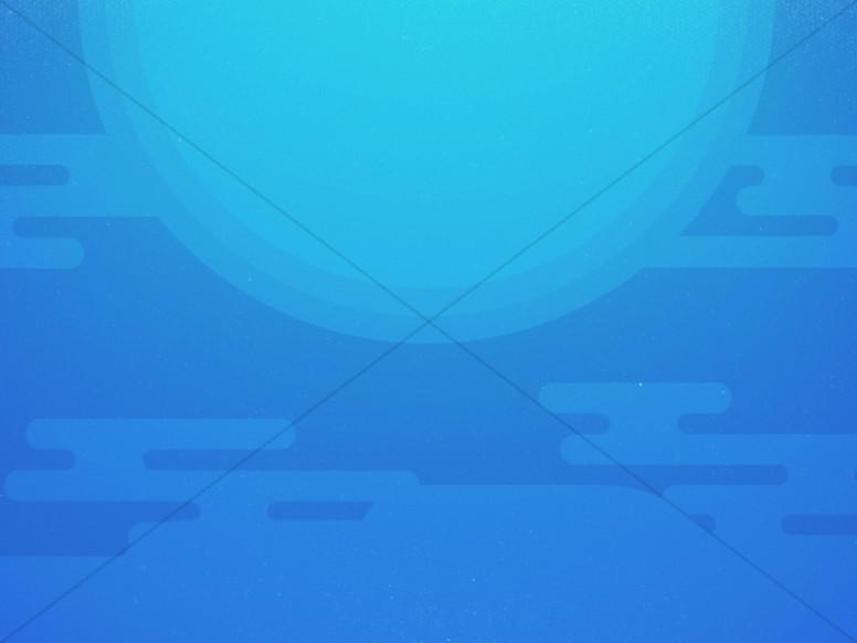 Modern Blue Sun Abstract Worship Background