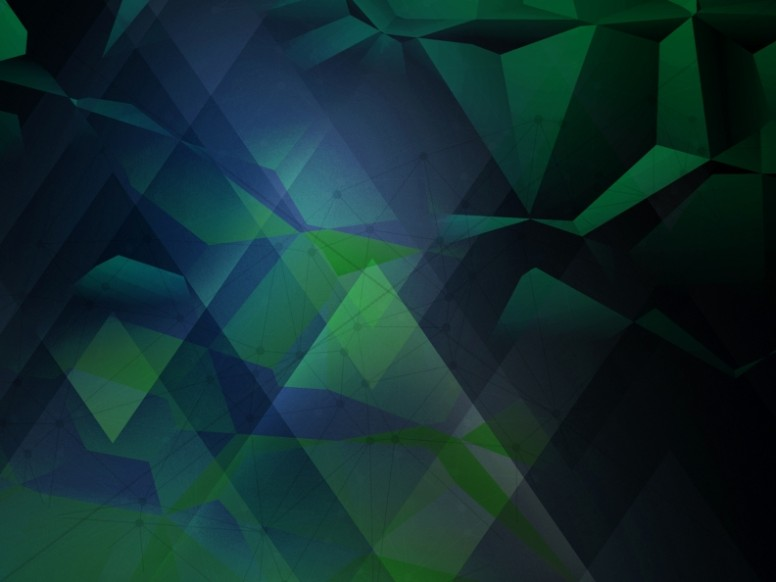 Green Geometric Worship Background