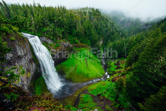Waterfall Gorge Religious Stock Photo