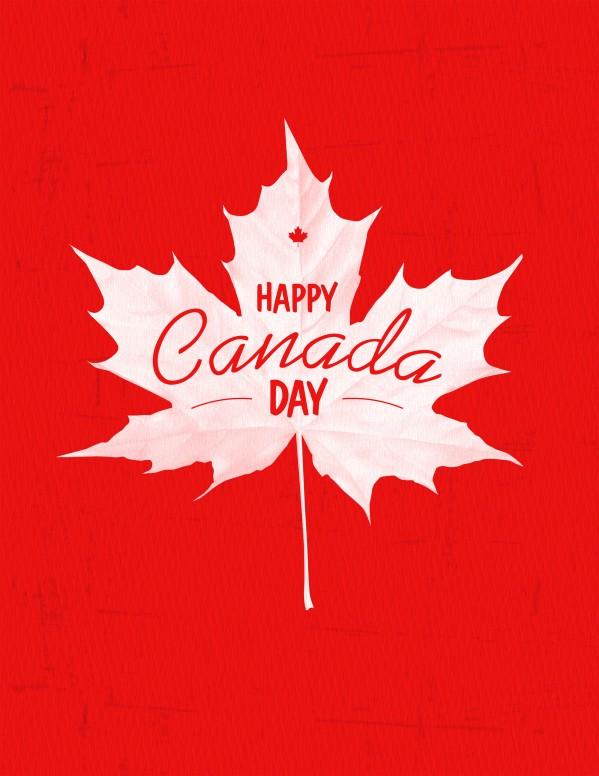 Happy Canada Day Church Flyer