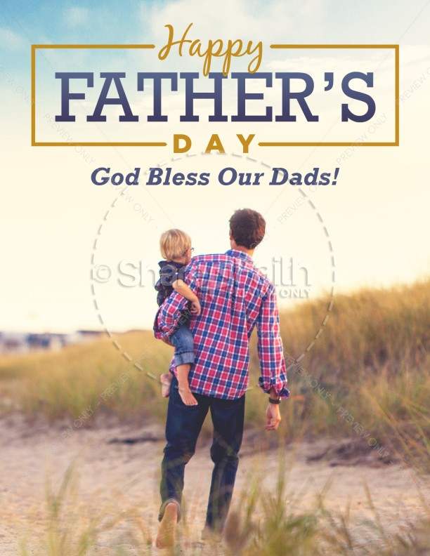 Father S Day Beach Walk Church Flyer Template Flyer