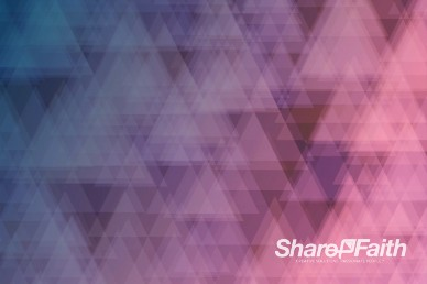 Abstract Fading Triangles Worship Motion Background