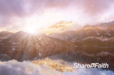 Sunset Over the Mountains Church Worship Video Background Loop