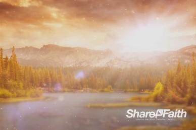 Sun Shining on the Horizon Church Worship Video Background Loop
