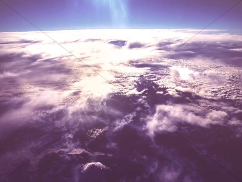 Clouds over Planet Earth Worship Background