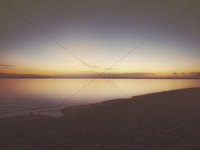 Beach at Twilight Church Worship Background