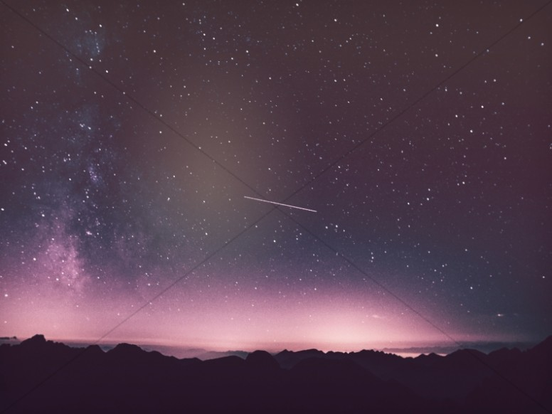 Shooting Star in the Sky Worship Background