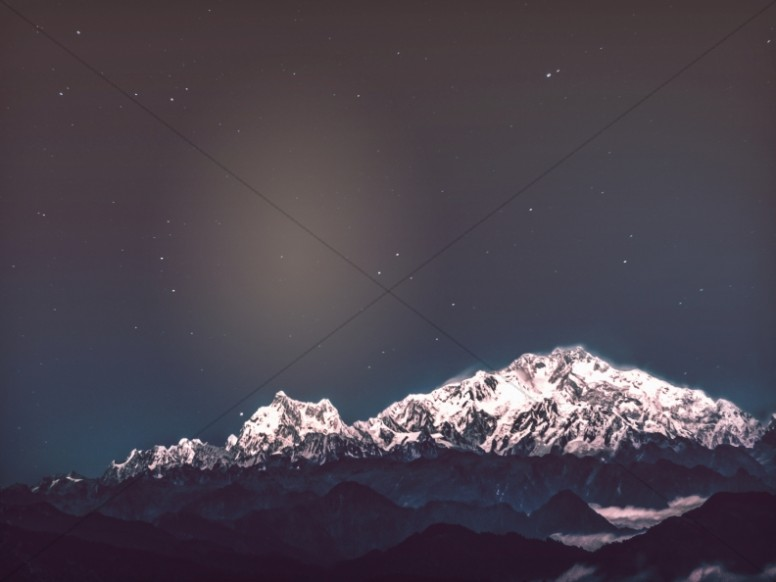 Stars Over Snowy Peaks Worship Background