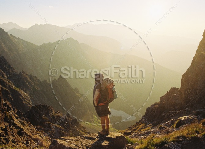 Brave Journey Religious Stock Photo