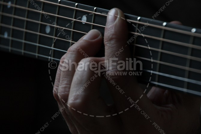 Worship Leader Guitar Ministry Stock Photo