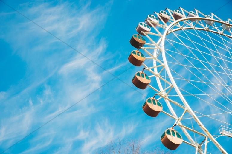 Ferris Wheel Sky Ministry Stock Photo