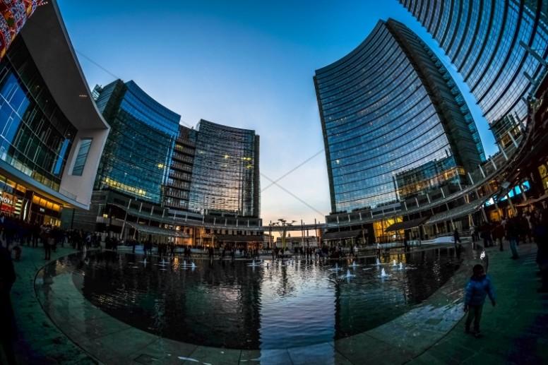 City Panorama Ministry Stock Photo