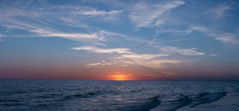 Ocean Horizon Panorama Ministry Stock Photo